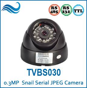 Indoor Dome IR RS232/RS485/TTL JPEG Serial Camera for GPS Tracking System