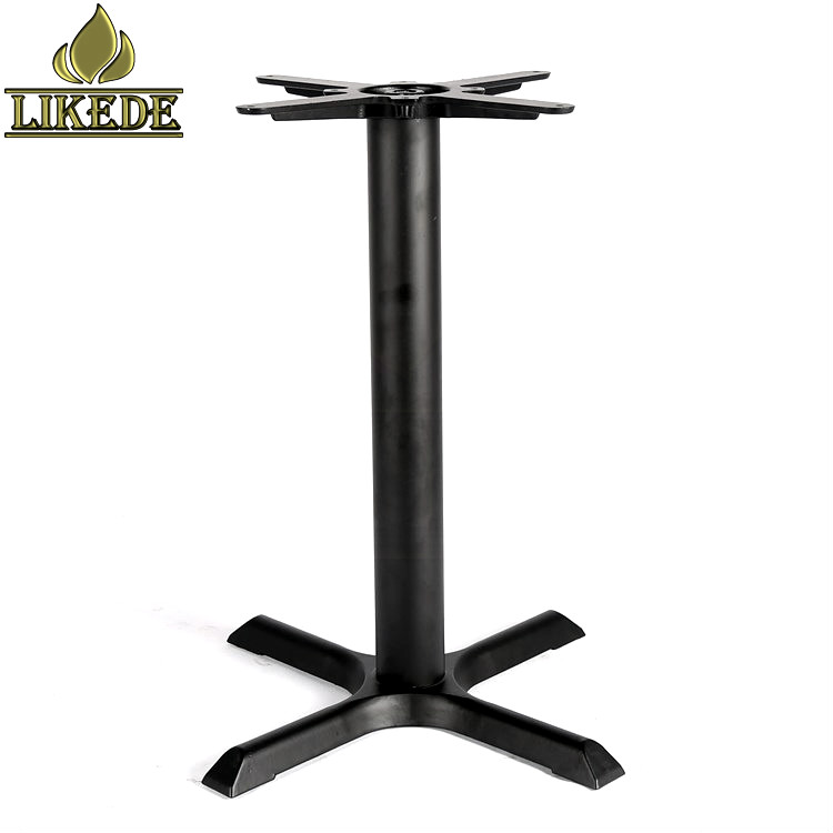 Low price cast iron cross table base frame leg