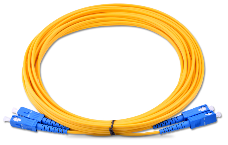 SC UPC duplex ethernet fiber patch cable 2.0mm single mode fiber patch cord