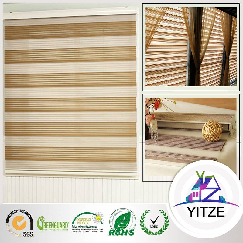 8 Fold Zebra Blind with Gold Wire
