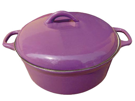 Porcelain Enamel Finish Cast Iron Round Casseroles and Pots