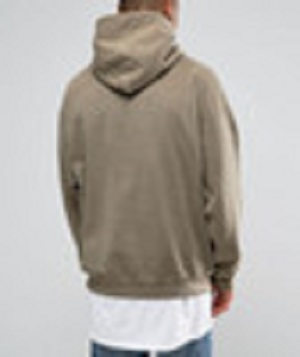 Street Fashion Men Oversized Blank Surface Stone Wash Hoodies
