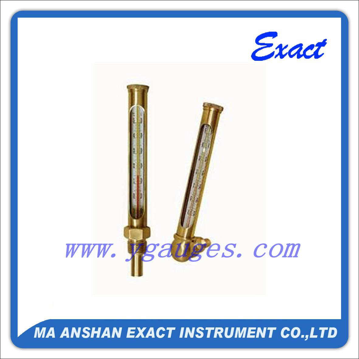 Round Glass Thermometer with Protective Case