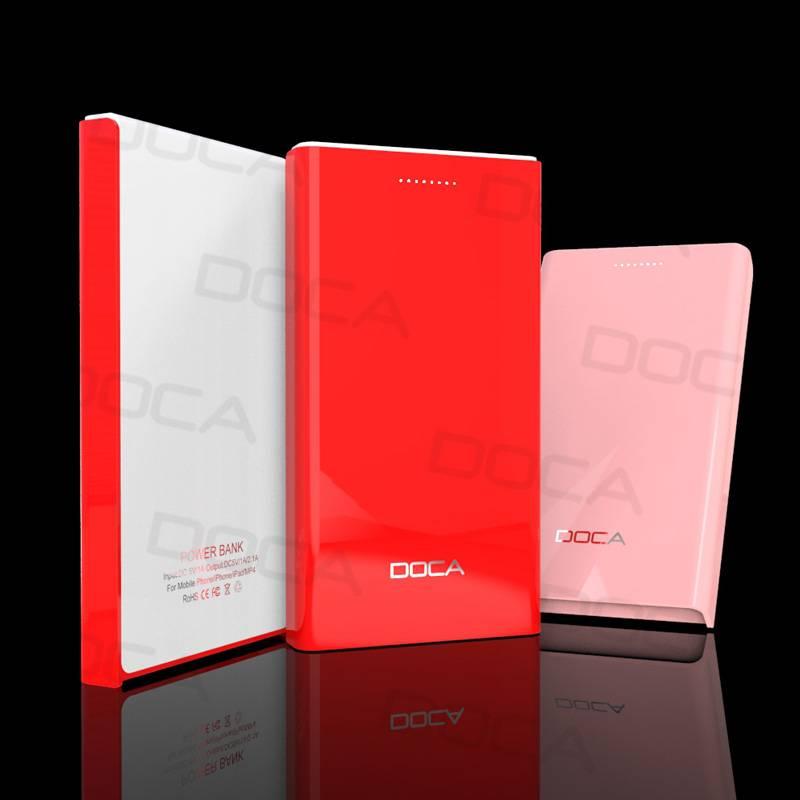 DOCA D605 6500mAh External Power Bank for Mobile Phone