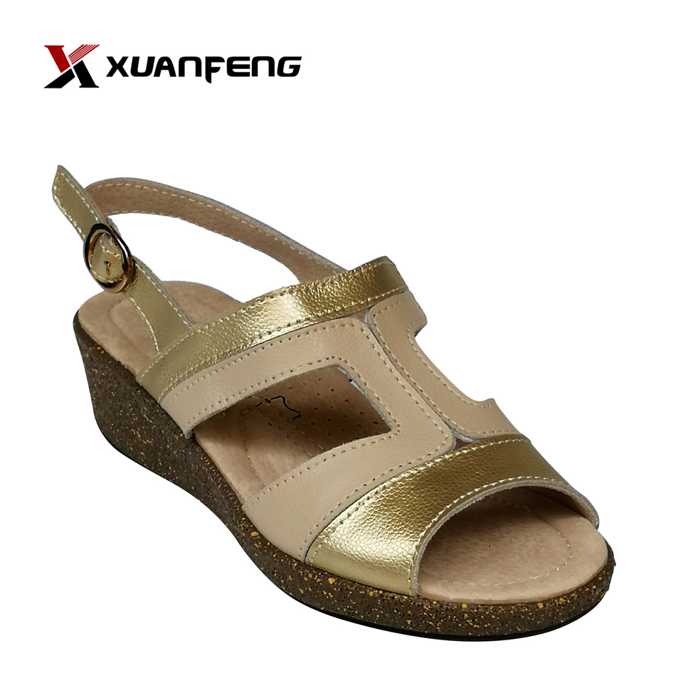 Popular Comfortable Ladies Action Leather Sandals Shoes