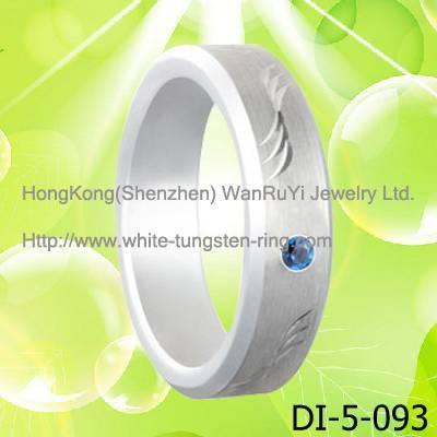 Platinum Plated Tungsten Band wedding ring