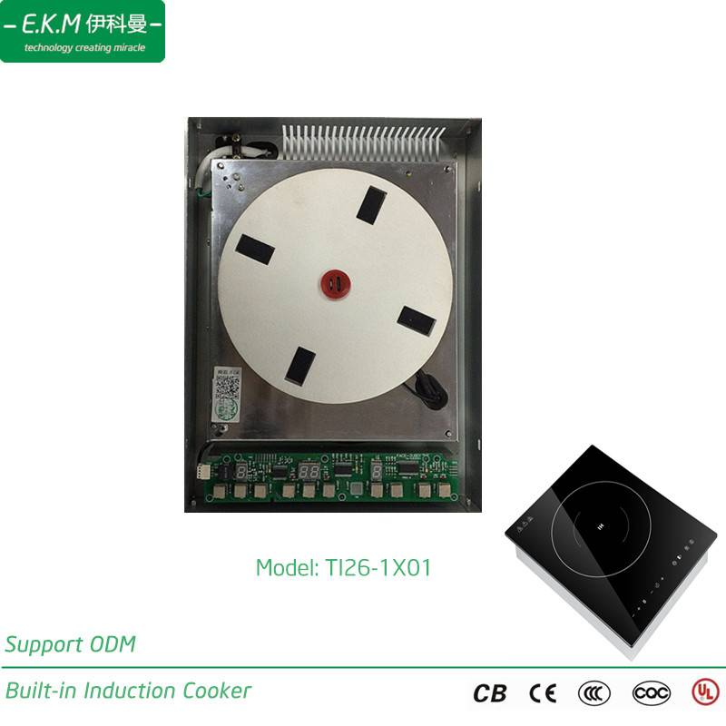 E. K. M Built-in Single Burner Induction Cooker, 2600W, Can Use 5 Years (TI26-1X01)