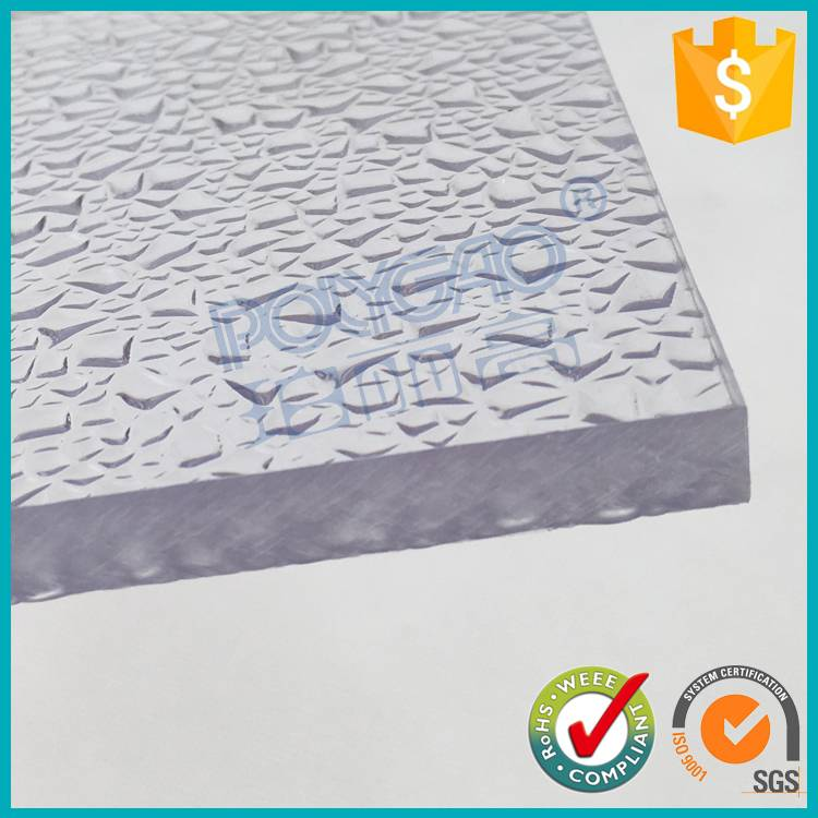 polycarbonate glass hard plastic sheets for dome skylight