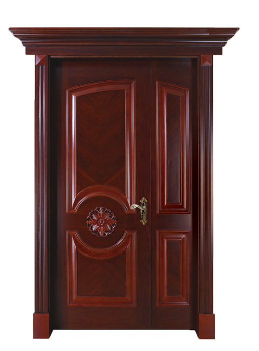Interior soundproof swing wood door