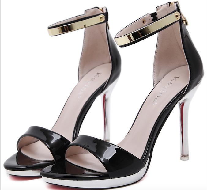 2018 Fashion ladies high heel PU design photo