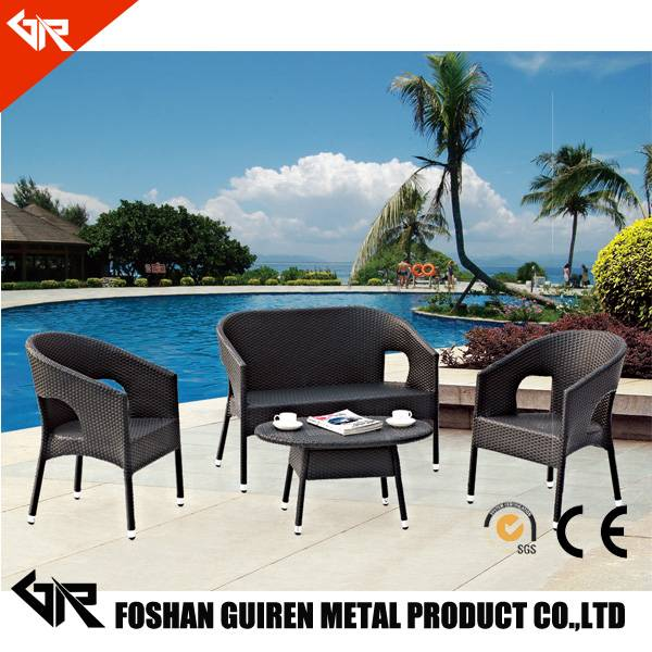 rattan outdoor spa furniture sofa set with furniture of rattan