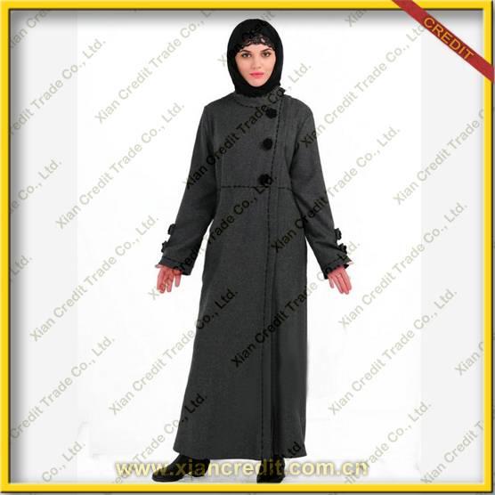 2014 Newest muslim women abaya made of flannel KDT - 1012
