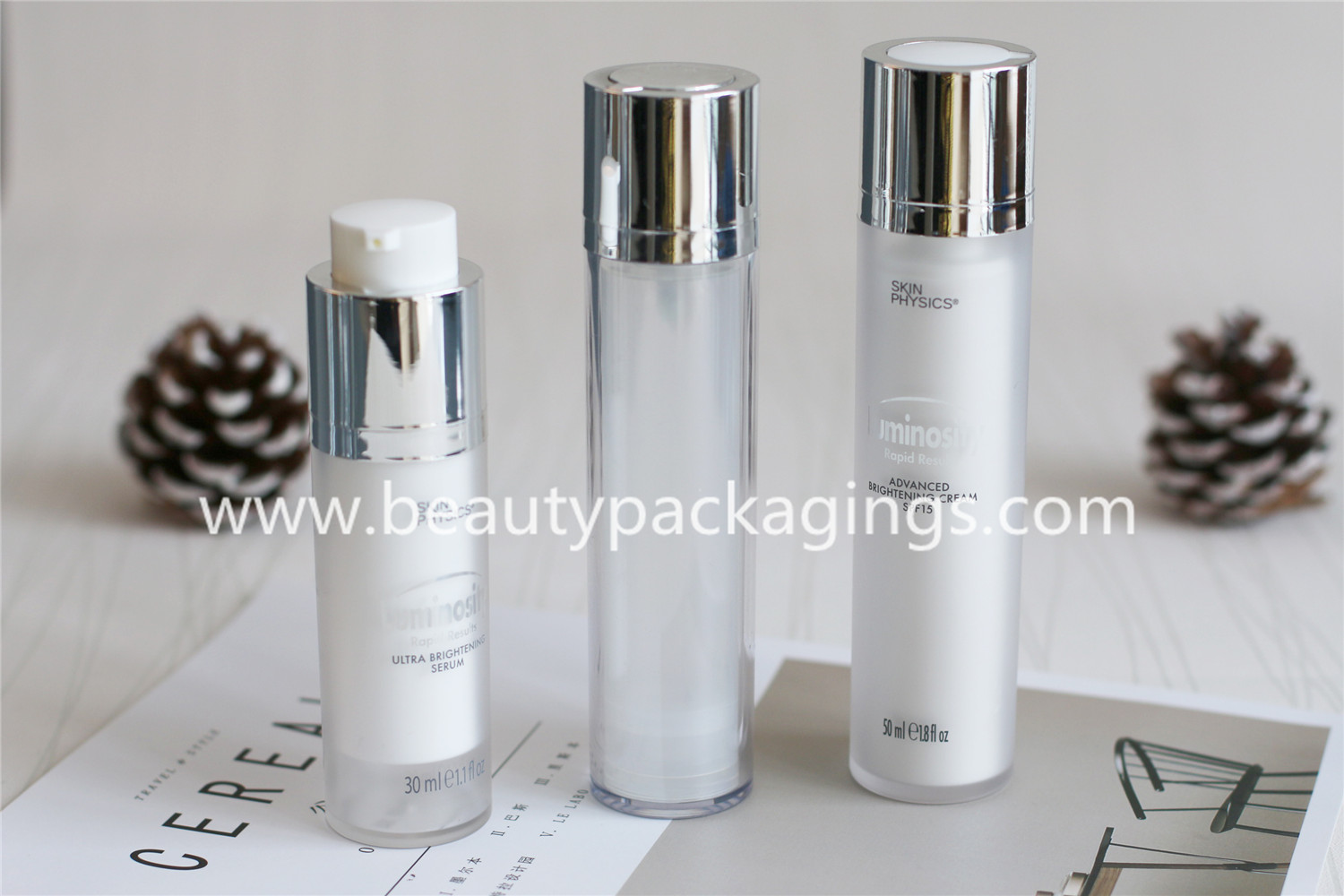 Portable Travel Airless Vacuum Face Cream Bottle Pump Lotion Bottle
