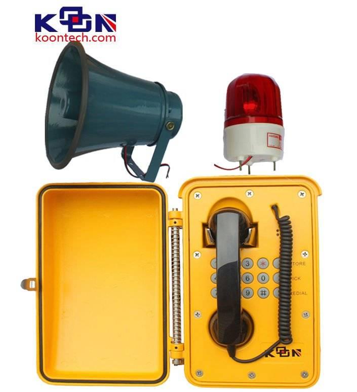 waterproof telephone Loud speaking weatherproof phone KNSP-08LB