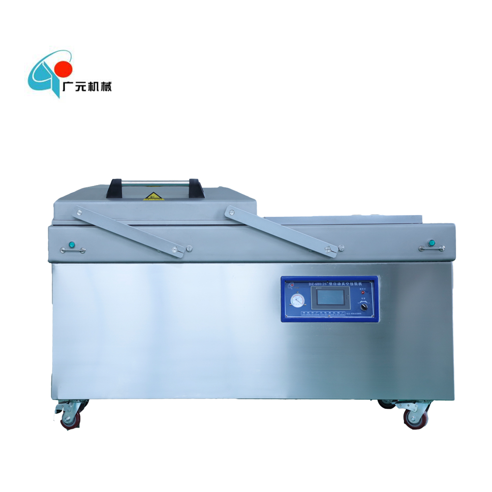 DZ 680 Vegetable Double Chamber Vacuum Packaging Machine Heavy Duty