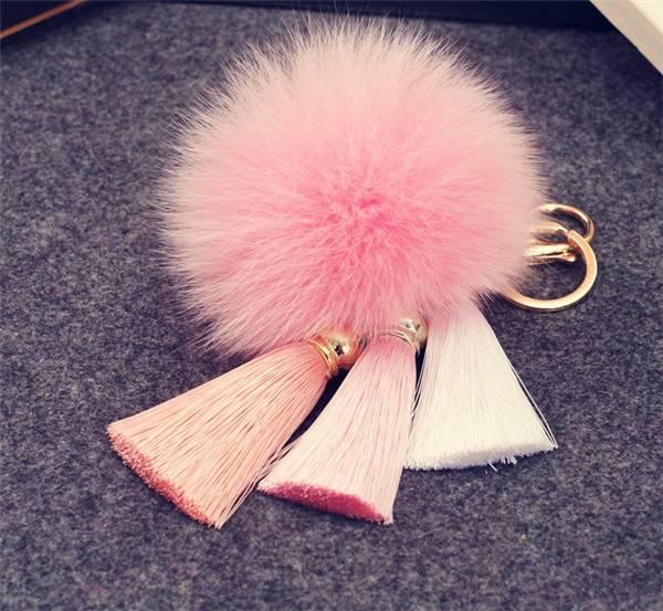 Fox Fur Pom Pom For Keychain/Bag Charm