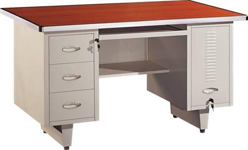Single person steel computer desk