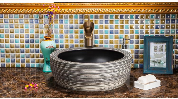 Wash Basin Antique Countertop Ceramic Wash Bowl Bathroom Sinks