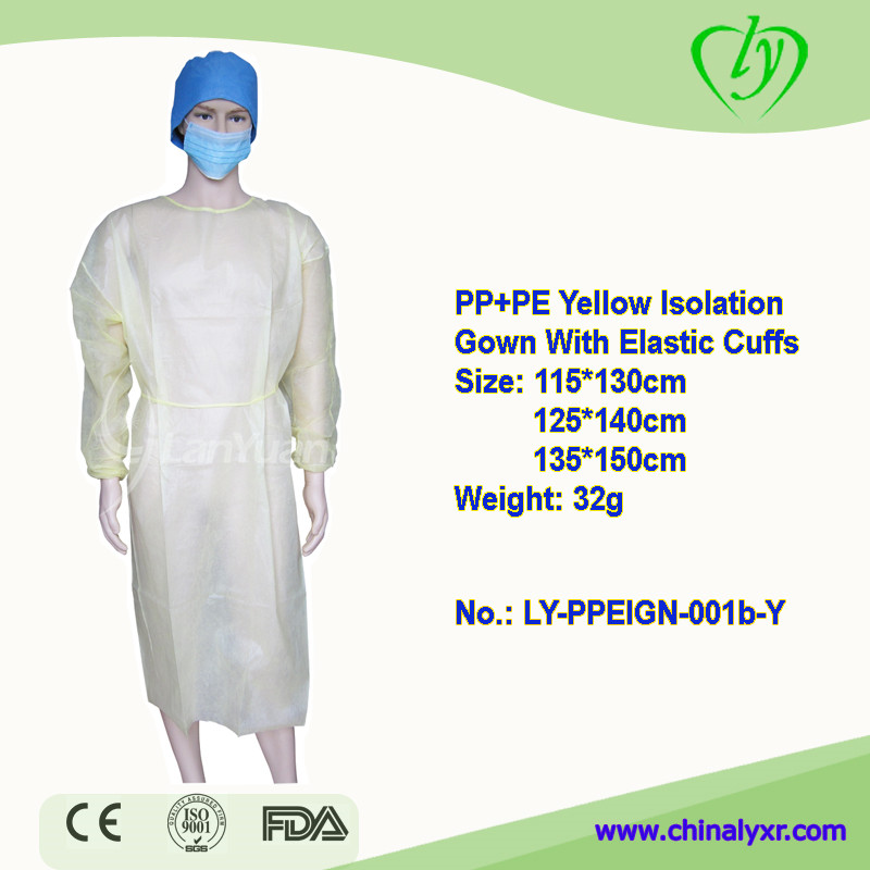 LY Disposable PPE Isolation Gown Surgical Gowns With Elastic Cuffs