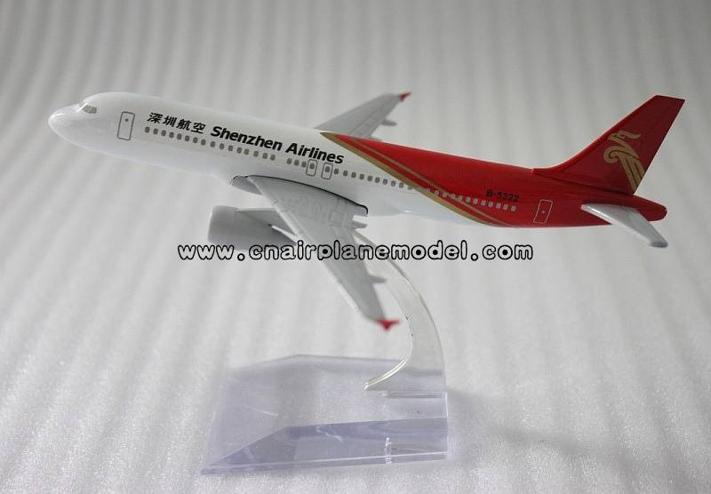 model aircraft A320 Shenzhen Airlines