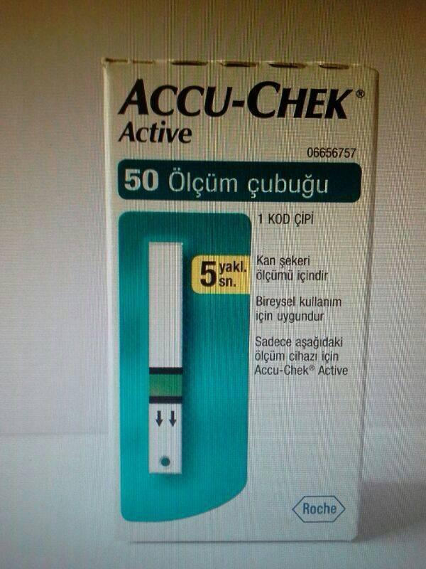 ACCU CHEK ACTIVE 50 TEST STRIPS (TURKISH PACK)