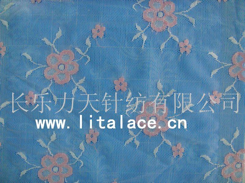 flower with five leaves tricot lace fabricM1384