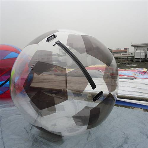 Semi Transparent Inflatable Water Walking Ball / Inflatable Soccer Balls For Kids