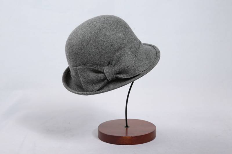 Grey Women's Wool Felt Hat (FW004094)