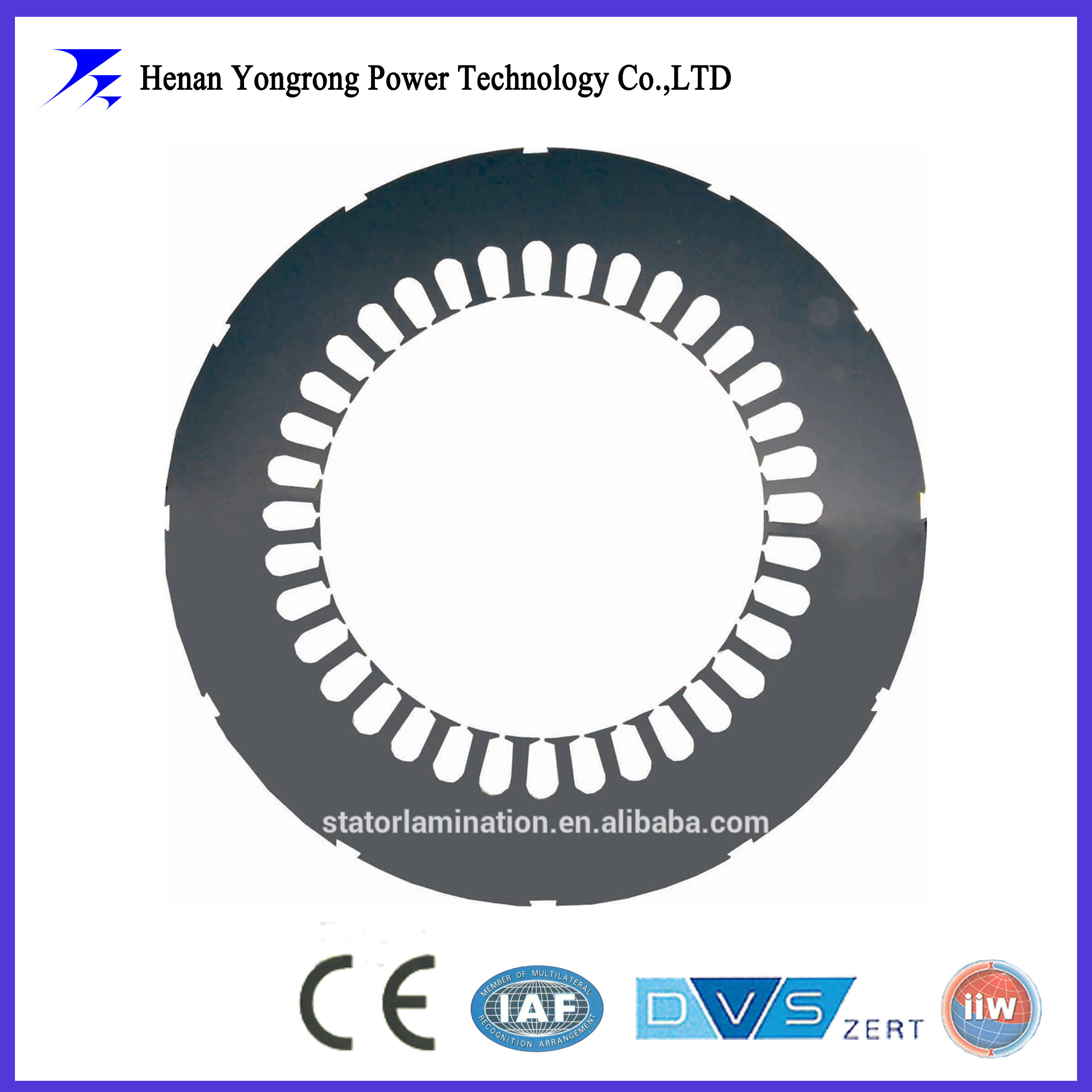 Generator stator silicon steel stamping laminations