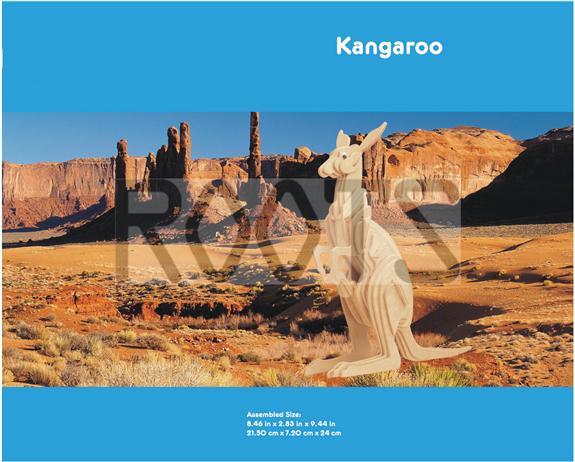 Kangaroo-3D wooden puzzles, wooden construction kit,3d wooden models, 3d puzzle