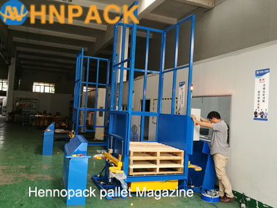 Factory Direct Sales Automatic Pallet Stacker/In-line Auto Pallet Dispenser & Collector/Pallet Stack