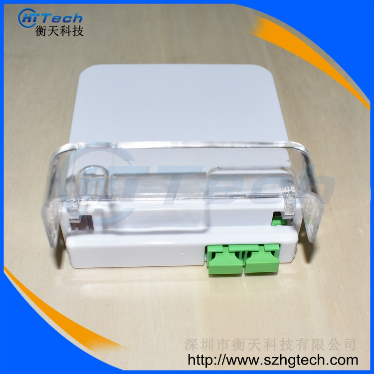 Hua Wei SC / APC 2Cores Fiber Optic Terminal Box