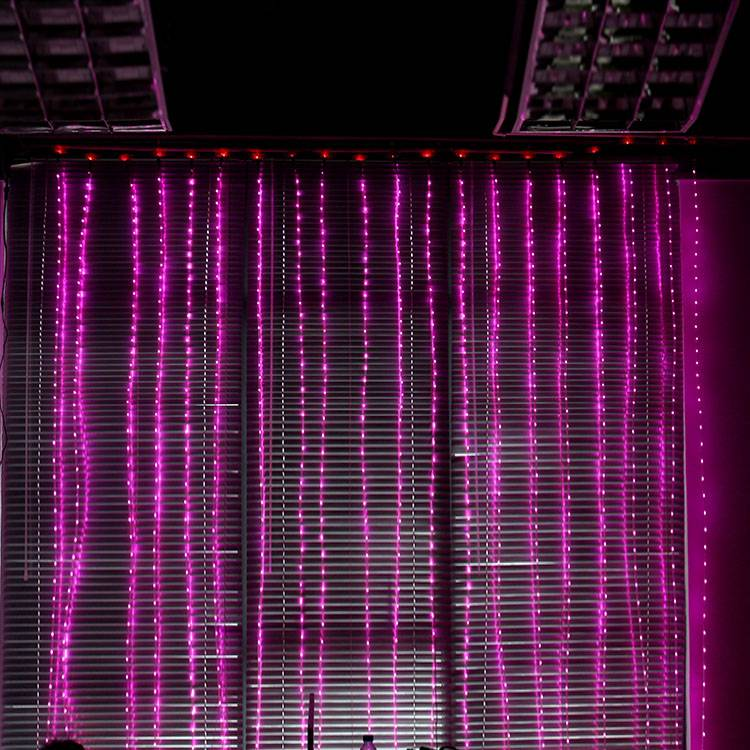 LED curtain lights, for room decoration, balcony decoration, remote controller and LED color optiona