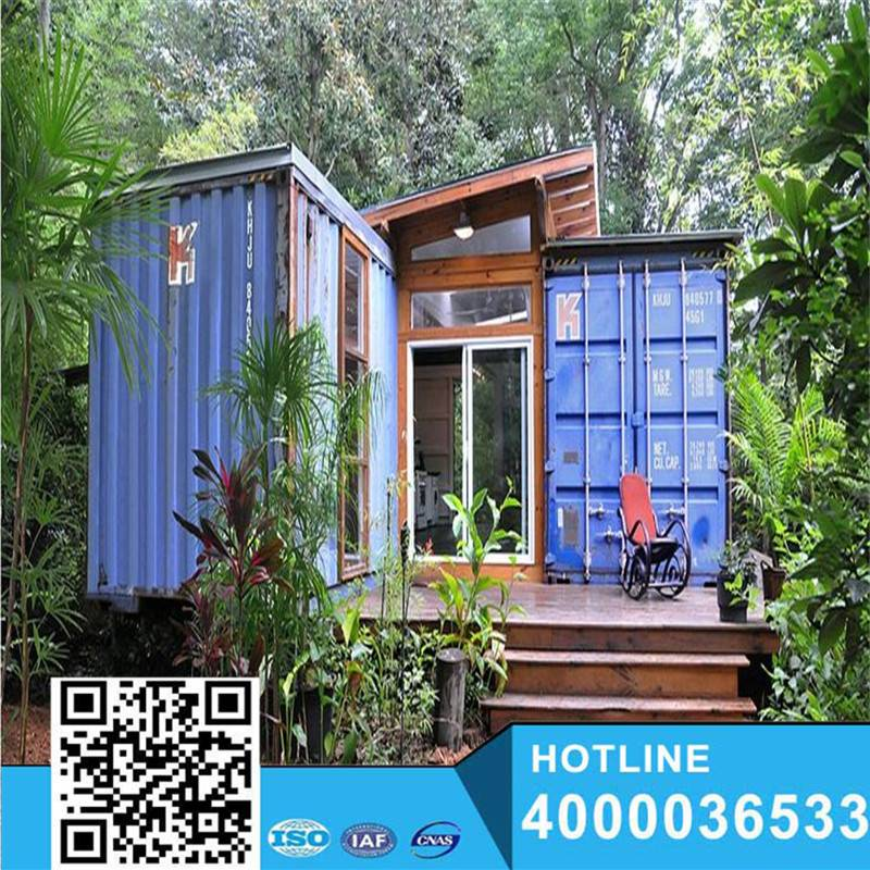 Blue Sea Color No Used Sales shipping container home/homes Flat Pack Container House