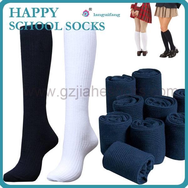 Guangzhou Socks Factory Custom Kids School Socks