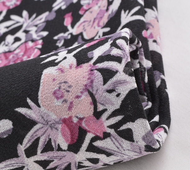 Woven printed 150D dobby georgette fabric