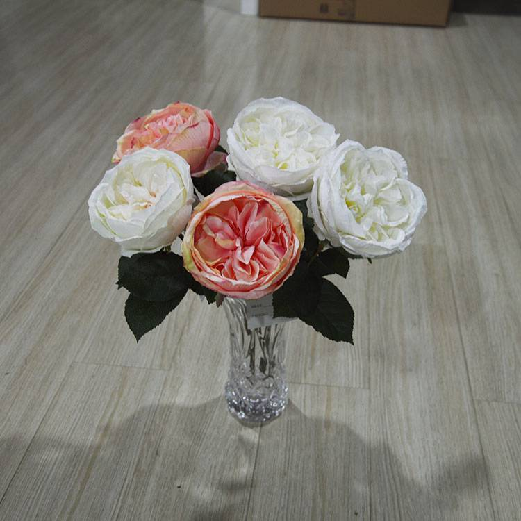 Home Interior Decoration Flower Artificial Rose Flowers from Dongguan Factory