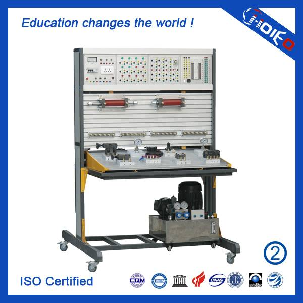 PLC Controlled Hydraulic Trainer,PLC managed hydraulic trainer,vocational training device,education