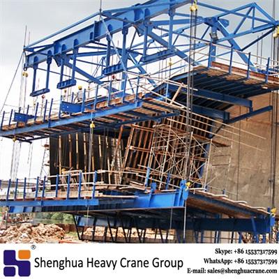 100 ton 160 ton cast-in-situ cantilever continuous beam bridge diamond hanging basket form traveller