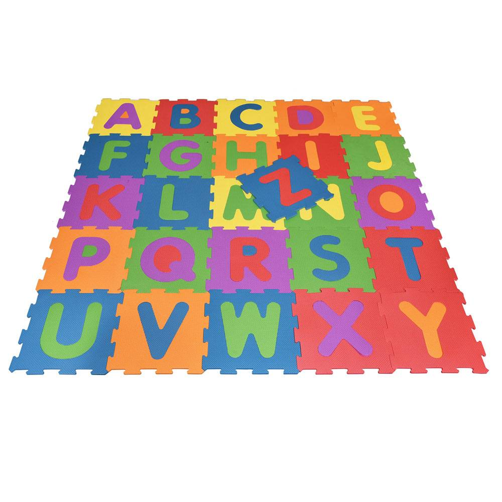 Education alphatbed puzzle mat