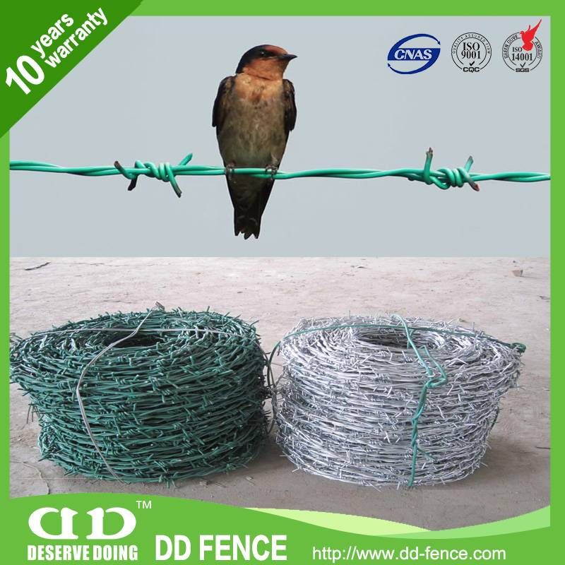China manufacturer Color Coils Pvc Barbed Wire
