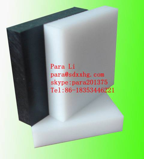 Recycled Black UHMWPE plastic plate