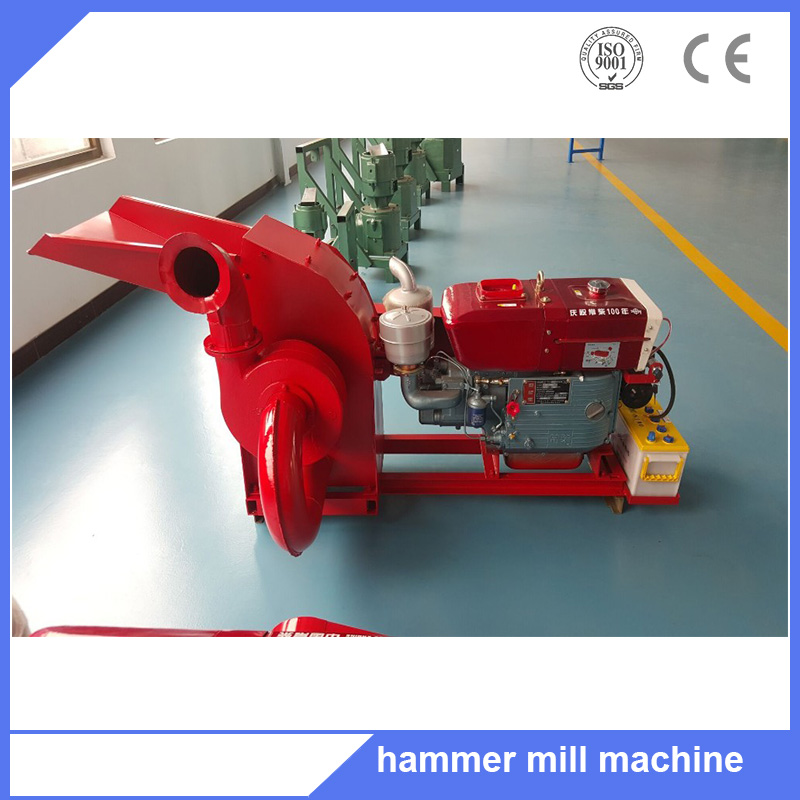 Hammer mill machine with 11kw motor for making pellets