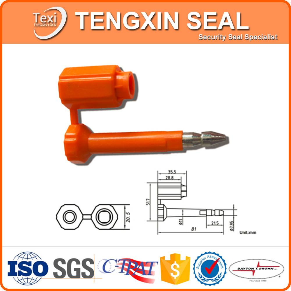 shipping container door locks bolt seal
