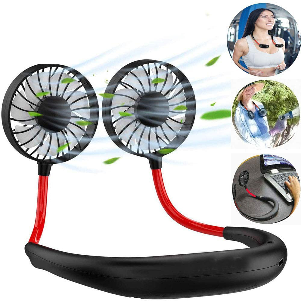 New Lazy Sports Hanging Neck Fan Outdoor Convenient Charging Creative Student Mini Usb Small Fan