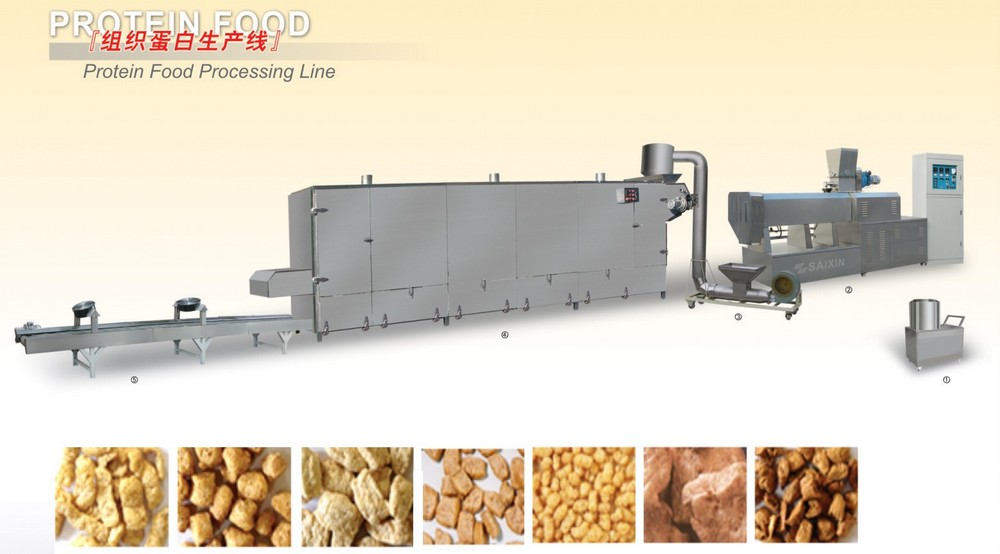 Texture soya protein nuggets machine