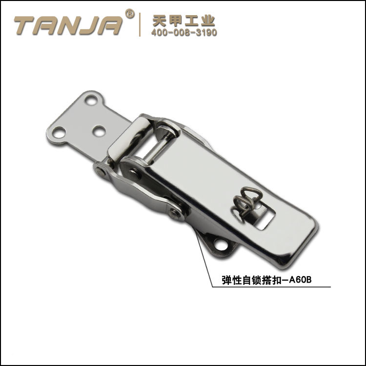 TANJA A60B self locking toggle latch / stainless steel spring loaded damping and safety snap latch