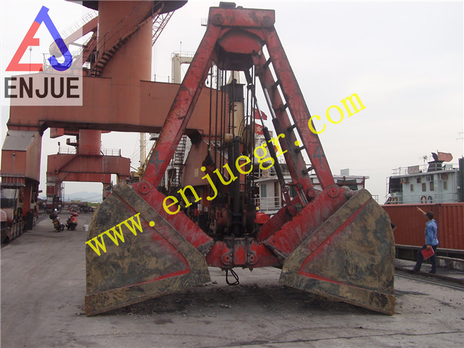 Touch Down Automatic Single Rope Clamshell Grabs for Bulk Cargo