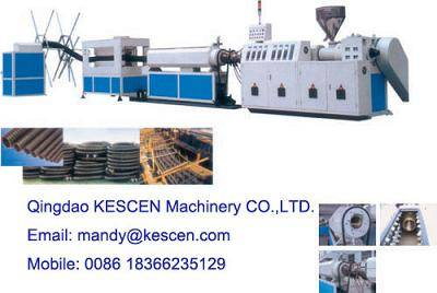 pe carbon spiral pipe extrusion machinery