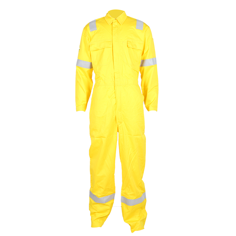 Men's 100% cotton flame retardant coverall with reflective strip